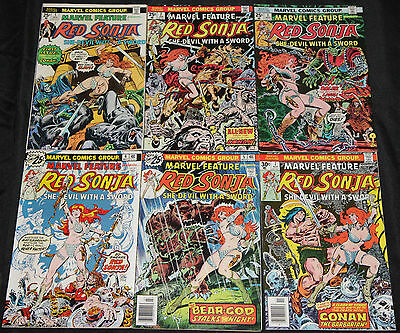 Vintage Bronze Age RED SONJA 12pc Count Mid-High Grade Comic Lot Marvel Feature