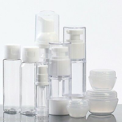 Travel Lotion Bottle Set Cosmetic Refillable Bottle Kit Vacuum Bottle Bottle