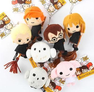 set of 7 Wizarding World of Harry Potter Ball Chain Mascot Plush Ron Toy gift
