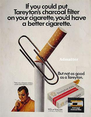 1969 Tareyton Smokers Would Rather Fight Than Switch Ad Vintage Tobacco Print Ad