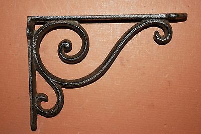 "(4)pcs. SMALL ELEGANT CAST IRON SHELF BRACKETS,6 5/8"" SHELF BRACKETS,CORBEL B-5"
