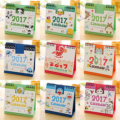 2017 animal mignon Cartoon de bureau stand annexe Table Planner calendrier