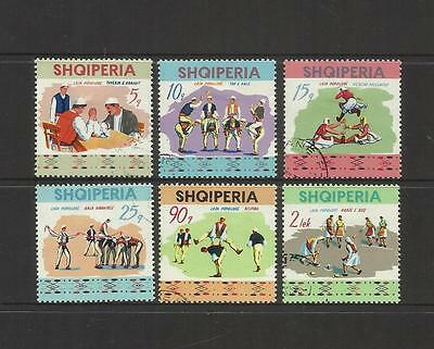 Albania Shqiperia ~ 1972 National Festival Of Traditional Games Cto Set