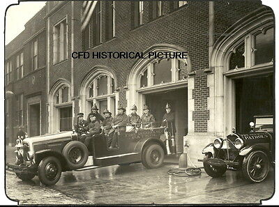 Chicago Fire Department Photo Cfd Vintage 1928 Squad Station Engine