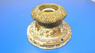 Antique Brass Painted Single Bulb Ceiling Fixture,With Partial Paint On It,USED