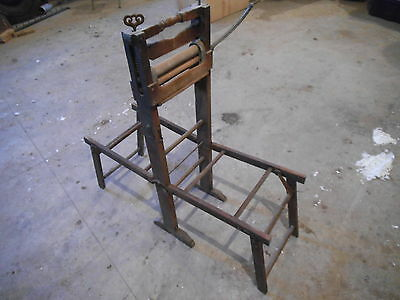 Antique Hand Cranked Laundry Wringer With Wash Rack Anchor Brand