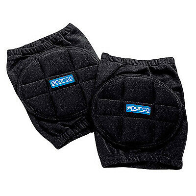 Sparco Nomex Rally/Pit/Garage/Motorsport Knee Pads In Black - One Size - Pair