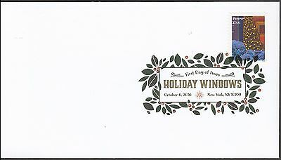 US 5148 Holiday Windows Christmas Tree DCP FDC 2016