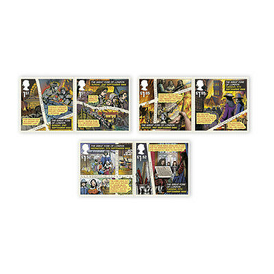 UK The Great Fire of London Stamp Set MNH 2016