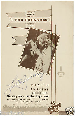 LORETTA YOUNG Signed Document - Film & Theatre Actress - Preprint