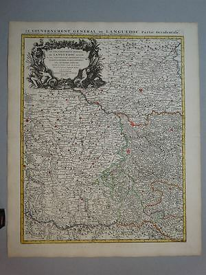 Toulouse Frankreich France - Kupferstich Karte engraving map Covens Mortier 1710
