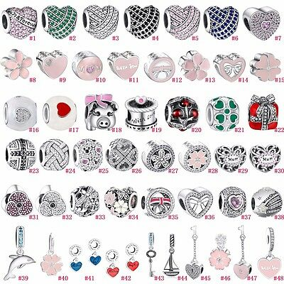 New Arrial Sterling European Charms Pendant Beads Fit 925 Silver Barcelets IT