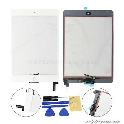 For iPad Mini 4 White Touch Screen Glass With Home Button Replacement Assembly