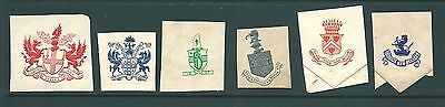 Antique ENVELOPE SEAL cut-outs - Private, Heraldic types with Latin mottos