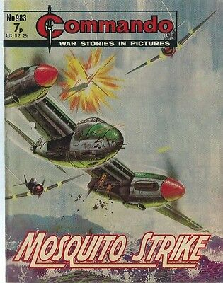 Mosquito Strike,commando War Stories In Pictures,no.983,war Comic,1975