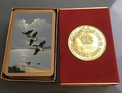 Waddingtons Vintage Fine Playing Cards Ducks In Box