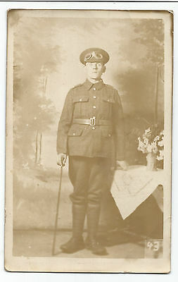 Military Soldier 'Tommy' Real Photo Vintage Postcard 30.11