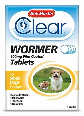 Bob Martin - All in One Wormer for Small Dogs & Puppies x 4 Tablets