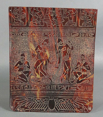 Art Deco Egyptian Revival Pharaoh Dancing Scene Tortoise Handbag Bag Panel Decor