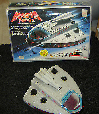 Boxed Bluebird  Manta Force spaceship and extra vehicles figures accessories