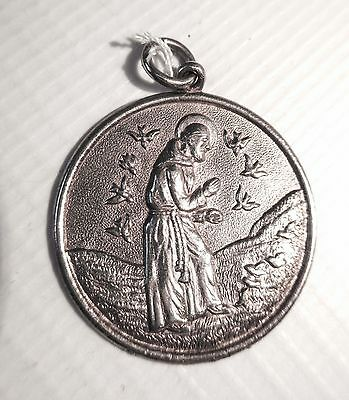 STERLING SILVER MARKED RELIGIOUS MEDAL medallion Christianity