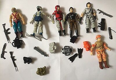 GI Joe Action Force Figure Lot With Accessories
