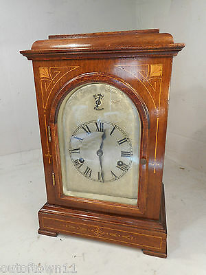 Quality Antique inlaid Mahogany  Striking Clock