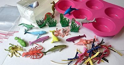 Sea Creatures DIY Soap Making Kit, Melt and Pour, Easy, Transparent Sea Diorama