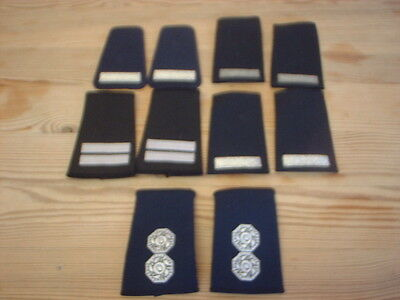 5 x Pairs of Fire Fighters Brigade Service Rank Epaulettes / Slides
