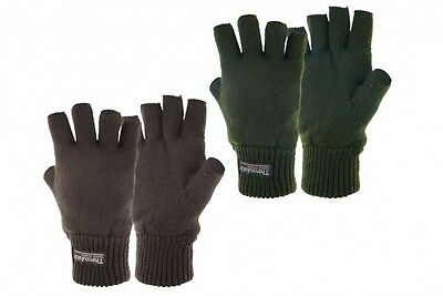Thinsulate Lined Stayner Fingerless Gloves - Shooting Hunting Fishing Hiking