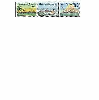 Cocos Islands 1985 CABLE SHIPS (3), Unhinged Mint SG 129-31