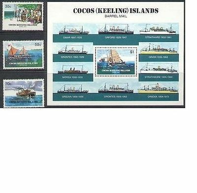 Cocos Islands 1984 BARREL MAIL (3+MS), Unhinged Mint SG111-MS114