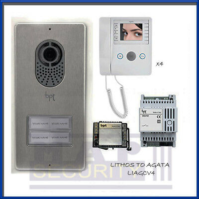 Bpt 4 Way Surface Door Entry Intercom Video System Kit With Agata