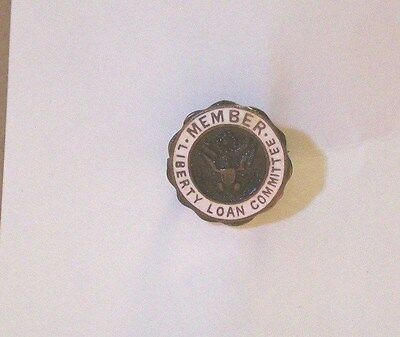 WW I - Member Liberty Loan Committee - Metal Lapel Pin- Original