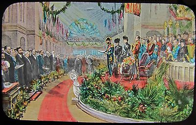 Glass Magic Lantern Slide MELBOURNE OPENING FIRST PARLIAMENT C1901 ROYAL TOUR