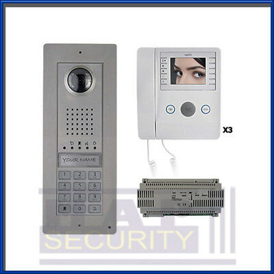 Bpt 1 Way Surface Video Intercom Door Entry Kit 3 Colour Monitors