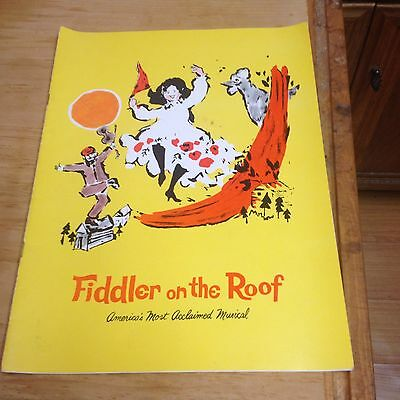 """Fiddler on the Roof 60s Theatre Program """"Worlds Most Acclaimed Musical"""""""