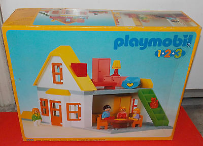 Playmobil 123 House 6600 Family Kids Furniture in the box EUC