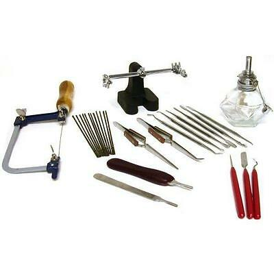 Jewelers Wax Carving Carver Saw Blades & Solder Tool Jewelry Repair Kit