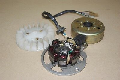 Used Stator, Fly wheel and Fan For a VMoto Milan 50cc Scooter
