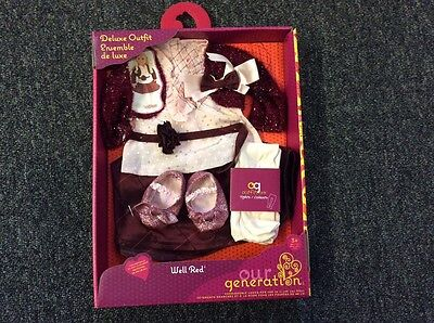 """Our Generation Doll outfit """"Well Red"""" new"""