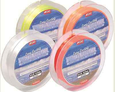 Asso Long Casting Tapered Shock Leader Line - All Colours/Breaking Strains!