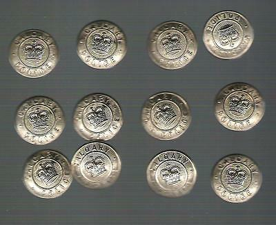 Button - Police - Calgary Police - lot of 12