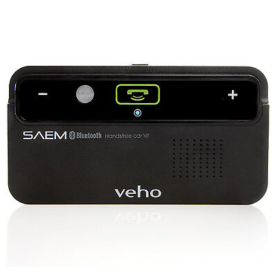 Veho VBC-001-BLK Saem S1 Sunvisor Bluetooth Handsfree Car Kit for Mobile Phone