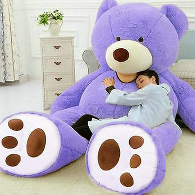 78'' Super Huge Teddy bear(only Cover) Purple Plush Toy Shell (with Zipper)
