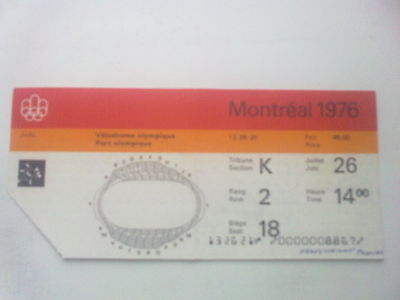 Ticket Olympic Games MONTREAL 26.07.1976 - JUDO (14:00)