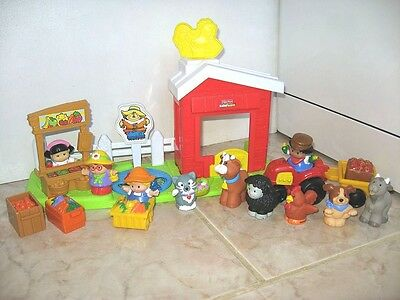 Little People Fisher Price Ferme Vente Fruits Legumes Animaux 10 Personnages