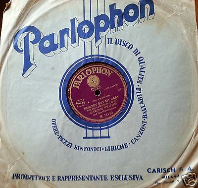 78 GIRI JAZZ di CLARENCE WILLIAMS e ARMSTRONG NOBODY WILLIE - Parlophon Italy