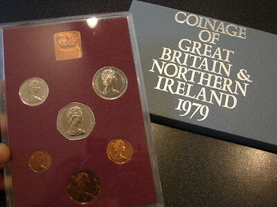 Great Britain 1979 Proof Coin Year Set in Royal Mint Case