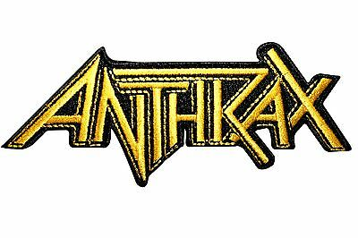 """Anthrax"" Band Name Logo Thrash Metal Music Embroidered Iron On Applique Patch"